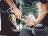 車内・シートスチーム洗浄
